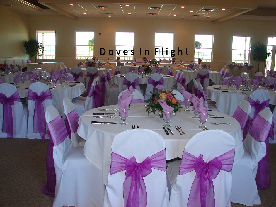 Doves In Flight Decorating / Chair Covers