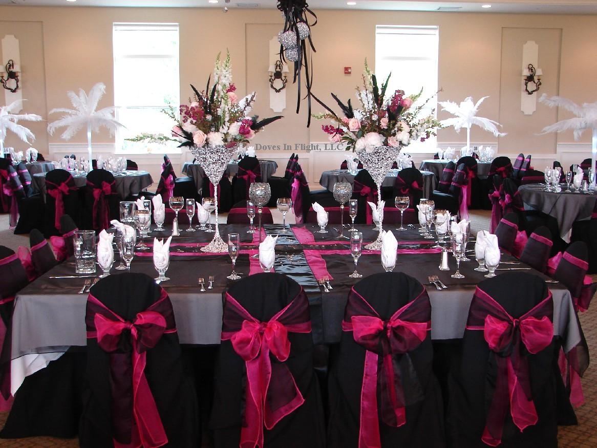 Chair covers of lansing doves in flight decorating for Table and chair decorations for weddings