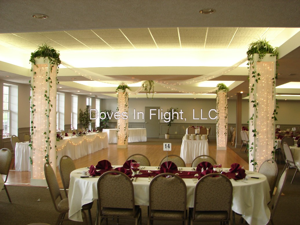 Chair Covers of Lansing: Columns and Backdrops