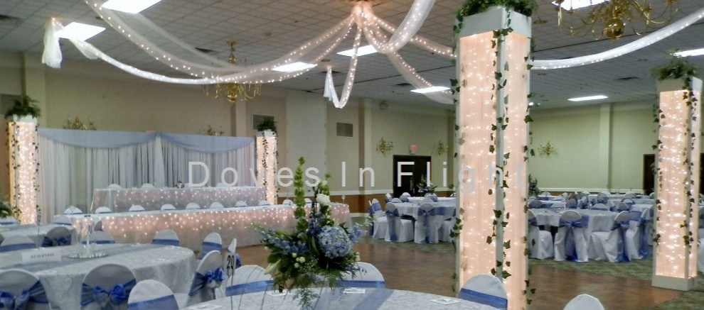 Chair Covers Of Lansing Columns And Backdrops