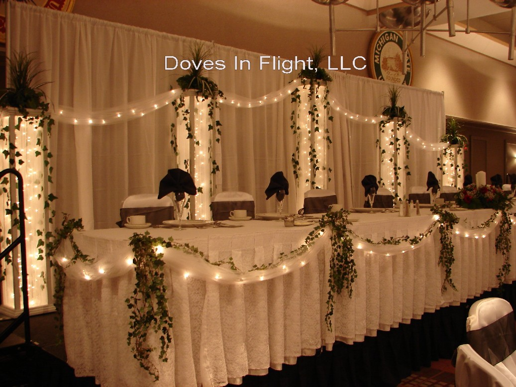 Chair covers of lansing table decorations Gallery decoration
